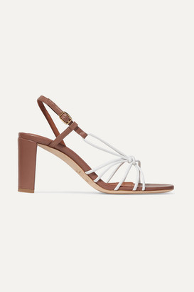 Malone Souliers Brinette 70 Two-tone Knotted Leather Sandals - White
