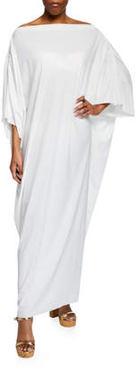 Chiara Boni Whoopi Off-Shoulder Long Coverup Caftan