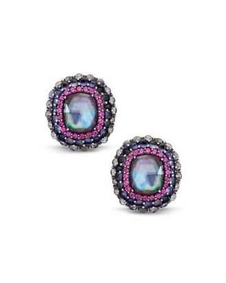 Stephen Dweck Multi-Stone Clip-On Earrings w/ Iolite/Garnet/Quartz