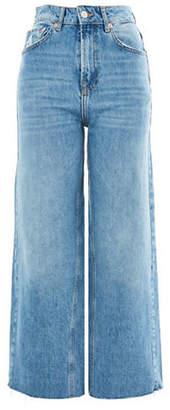 Topshop MOTO Cropped Wide-Leg Jeans 32-Inch Leg