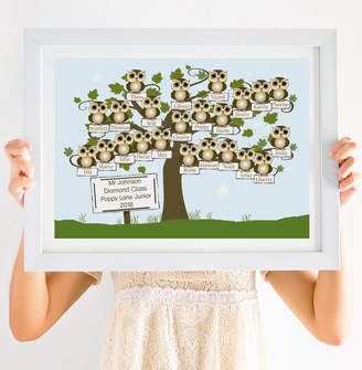 Giddy Kipper Personalised Teacher's Whole Class Little Owls Print