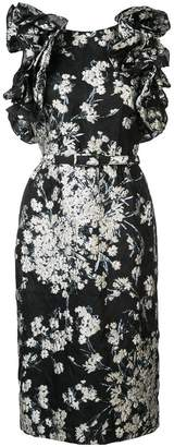 Co embroidered fitted dress