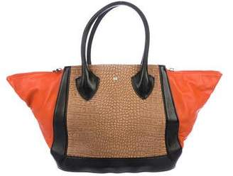 Pre Owned At Therealreal Pour La Victoire Tricolor Leather Tote