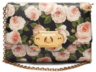 Dolce & Gabbana Welcome Evening Floral Print Leather Clutch - Womens - Black Multi