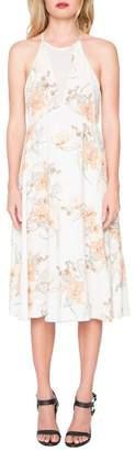 Willow & Clay Floral Jewel Neck Midi Dress