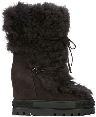 Casadei wedge heel boot