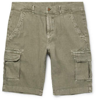 Loro Piana Stretch-Linen And Cotton-Blend Cargo Shorts