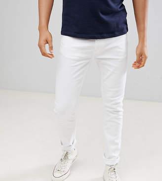 Burton Menswear Tall Menswear Super Skinny Jeans In White