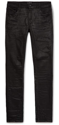 RtA Skinny-Fit Distressed Denim Jeans - Black