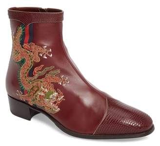 Gucci Dragon Leather Boot