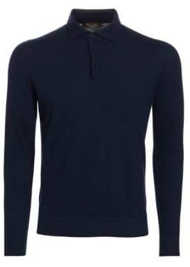 Loro Piana Long-Sleeve Cashmere Polo