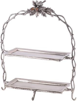 Star Home Designs Birds & Branches 2-Tier Serving Stand