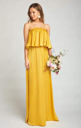 Show Me Your Mumu Hacienda Maxi Dress ~ Honey Gold Sheen