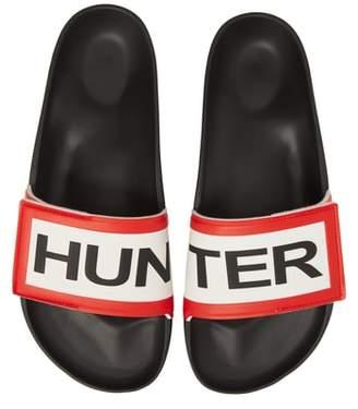 Hunter Adjustable Logo Slide Sandal