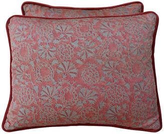One Kings Lane Vintage Petite Fortuny Textile Pillows - Set of 2