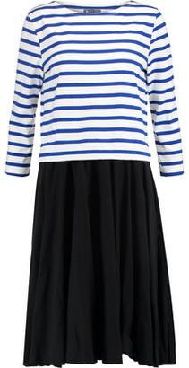 Petit Bateau Layered Striped Cotton Dress $149 thestylecure.com