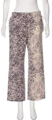 Issey Miyake Mid-Rise Printed Pants