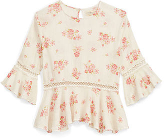Ralph Lauren Denim & Supply Floral Bell-Sleeve Top $98 thestylecure.com