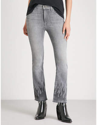 Mother The Insider Ankle Fray high-rise straight jeans