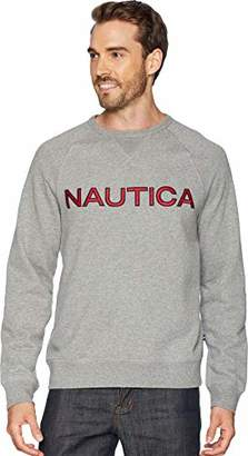 Nautica Men's Long Sleeve Solid French Rib Crew Neck Sweatshirt