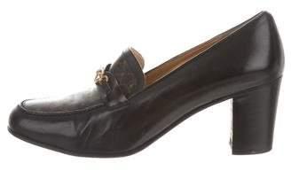 Trussardi Leather Round-Toe Pumps