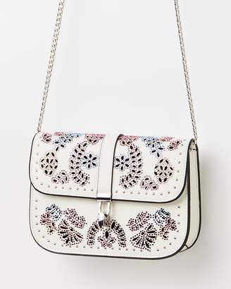 Topshop Hallie Hotfix Cross-Body Bag