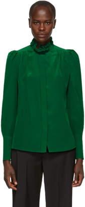 Isabel Marant Green Silk Lamia Shirt