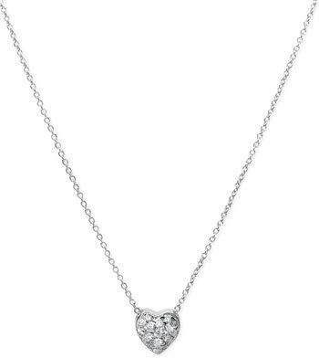 Roberto Coin 'Tiny Treasures' Diamond Heart Pendant Necklace