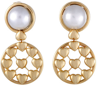 Christian Dior HERITAGE  18K Pearl Drop Earrings