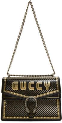 Gucci Black Medium Sega Guccy All Over Dionysus Bag
