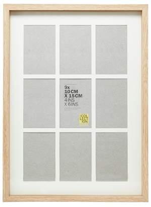Debenhams Home Collection - Natural Wood Nine Aperture Photo Frame