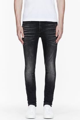 Neil Barrett Slate Grey Multi Pocket Skinny Jeans