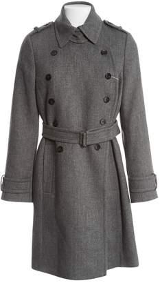 HUGO BOSS Grey Wool Coats