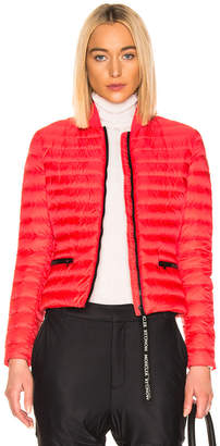 Moncler Blenca Biker Jacket in Coral Red | FWRD
