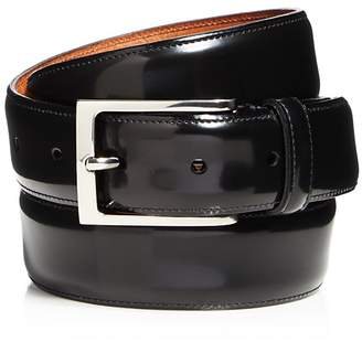 Trafalgar Vincenzo Shiny Tuxedo Belt $110 thestylecure.com