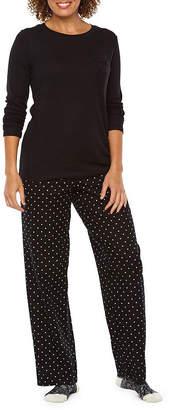 Liz Claiborne 3 Piece Plaid Pant Pajama Set With Socks
