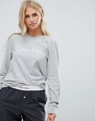 Calvin Klein Comfort Cotton Long Sleeve Pyjama Top