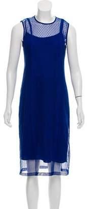 DKNY Mesh Midi Dress