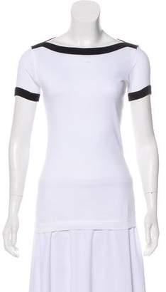 Dolce & Gabbana Bateau Neck Logo T-Shirt