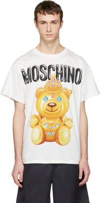 Moschino White Jewel Bear T-Shirt $225 thestylecure.com