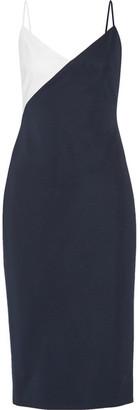 Cushnie et Ochs - Leah Color-block Stretch-knit Dress - Midnight blue $1,495 thestylecure.com