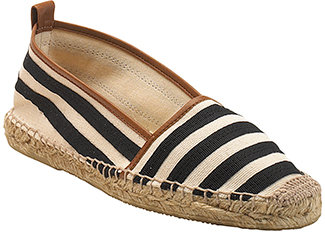 Kate Spade - Lido - Black Striped Closed Toe Espadrille