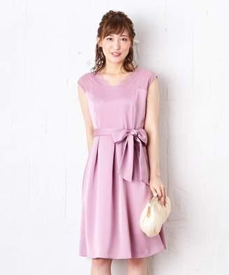 anySiS (エニィスィス) - any SiS 【洗える】スカラネックレース ドレス(C)FDB