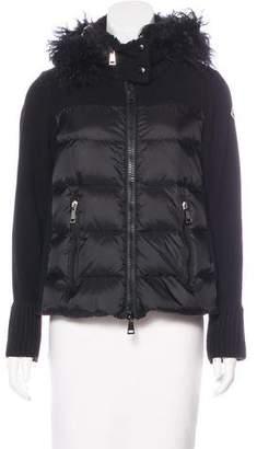 Moncler Fur-Trimmed Maglia Cardigan