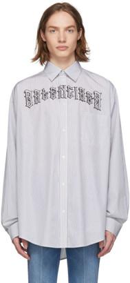 Balenciaga White Striped Tattoo Shirt