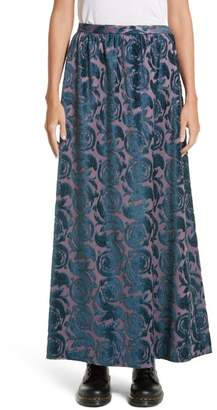 Undercover Flocked Maxi Skirt