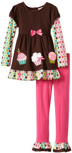 Rare Editions Girls 7-16 Cupcake Applique Legging Set