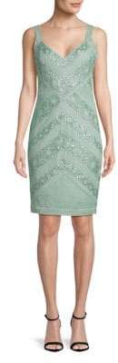 Tadashi Shoji V-Neck Sequin Sheath Dress