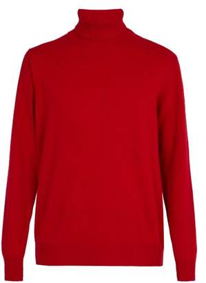 President's - Washed Wool Roll Neck Sweater - Mens - Red