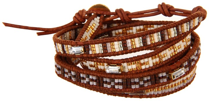 Chan Luu 32 Beaded Brown Mix/Natural Brown Bracelet (Brown Mix/Natural Brown) - Jewelry
